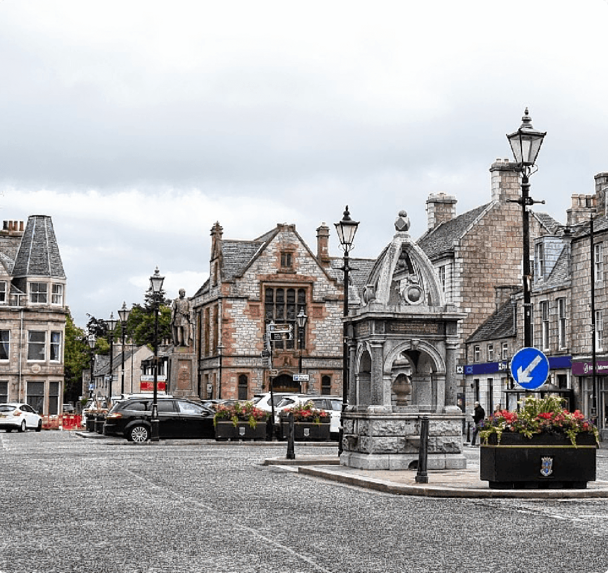Huntly town centre.